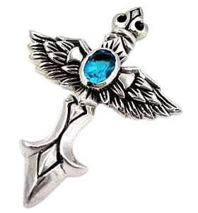 sterling silver cross wings pendant