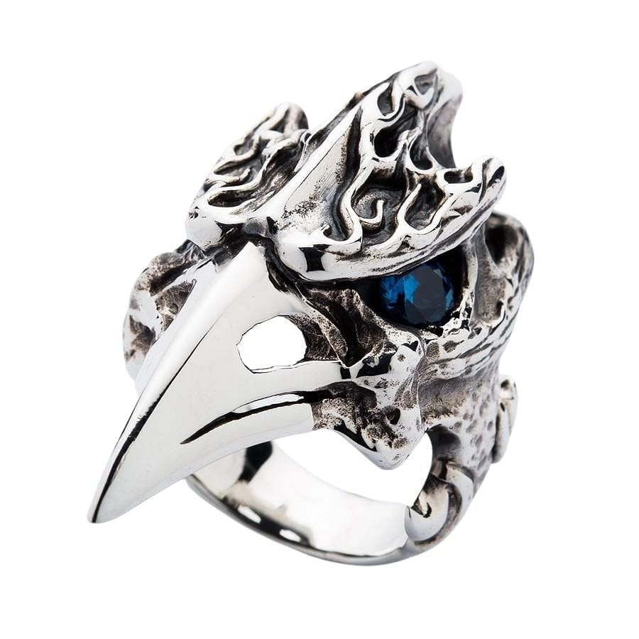Dinosaur Hornbill Skull Head Ring