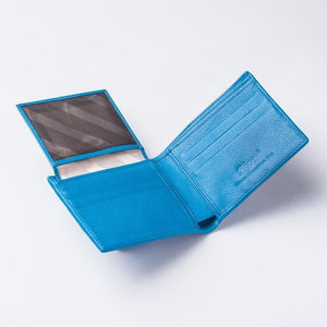 Blue Turquoise Crocodile Tail Skin Mens Wallets