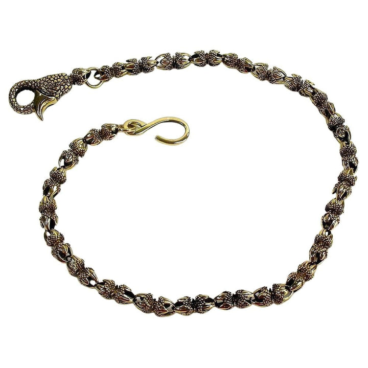 dragon claw brass wallet chain