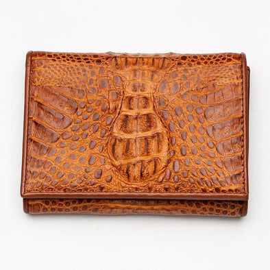 Brown Crocodile Skin Womens Wallets