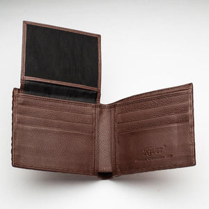 Brown Genuine Crocodile Head Skin Mens Wallet