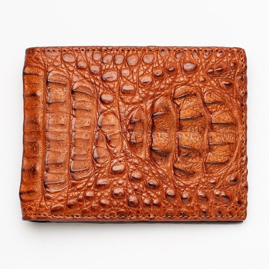 brown genuine crocodile wallet