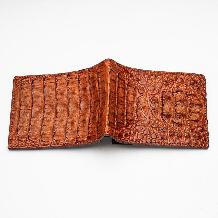 crocodile head skin wallet
