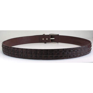 Brown Genuine Crocodile Skin Belt