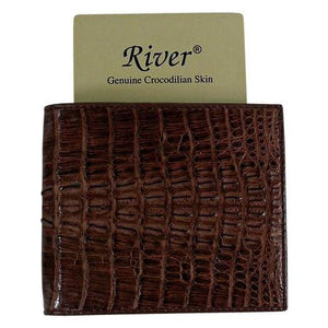 brown crocodile mens wallet