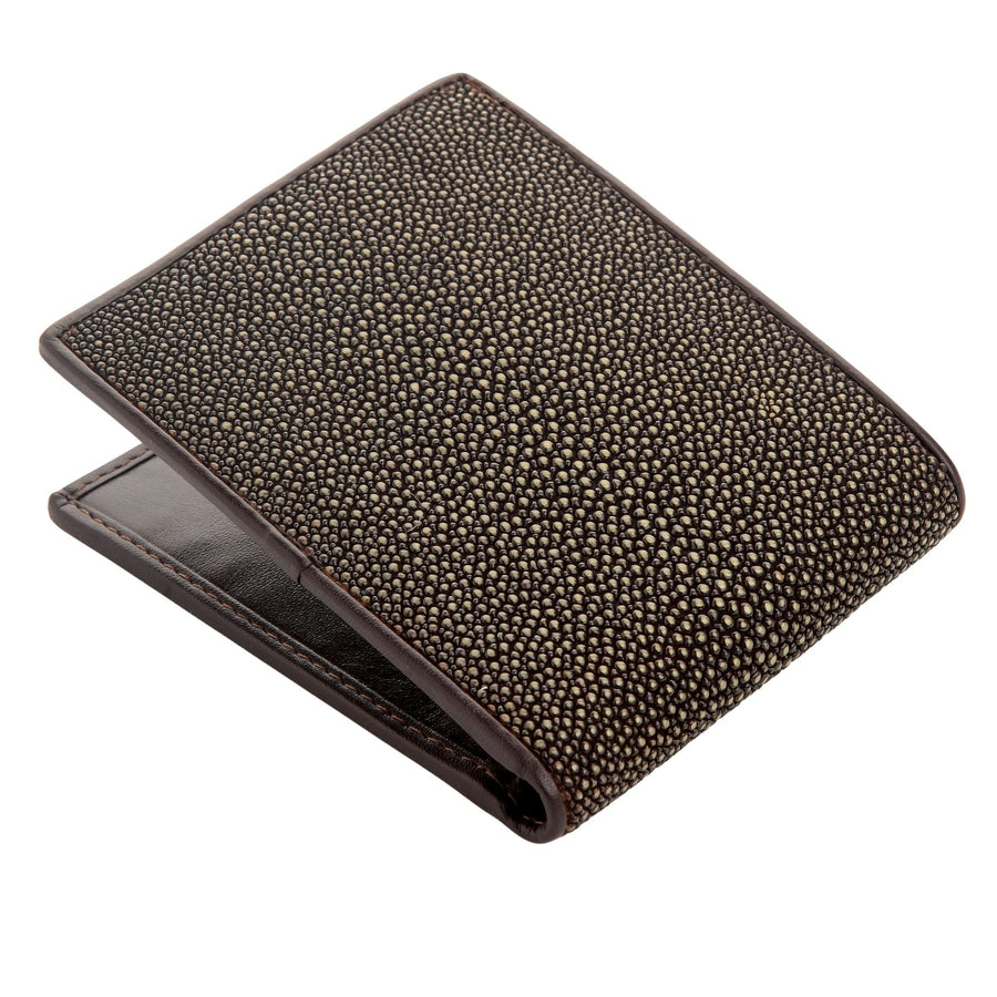 Brown Polished Stingray Wallet