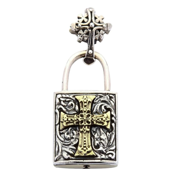 Celtic Cross Padlock Pendant