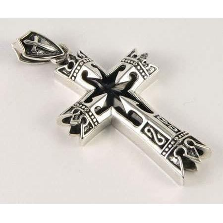 Sterling silver celtic cross pendant charm aloadofball Image collections