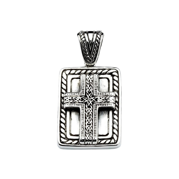 celtic cross sterling silver pendant