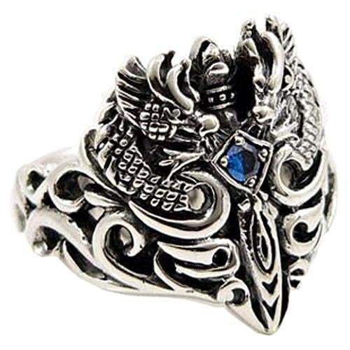 silver celtic dragon ring