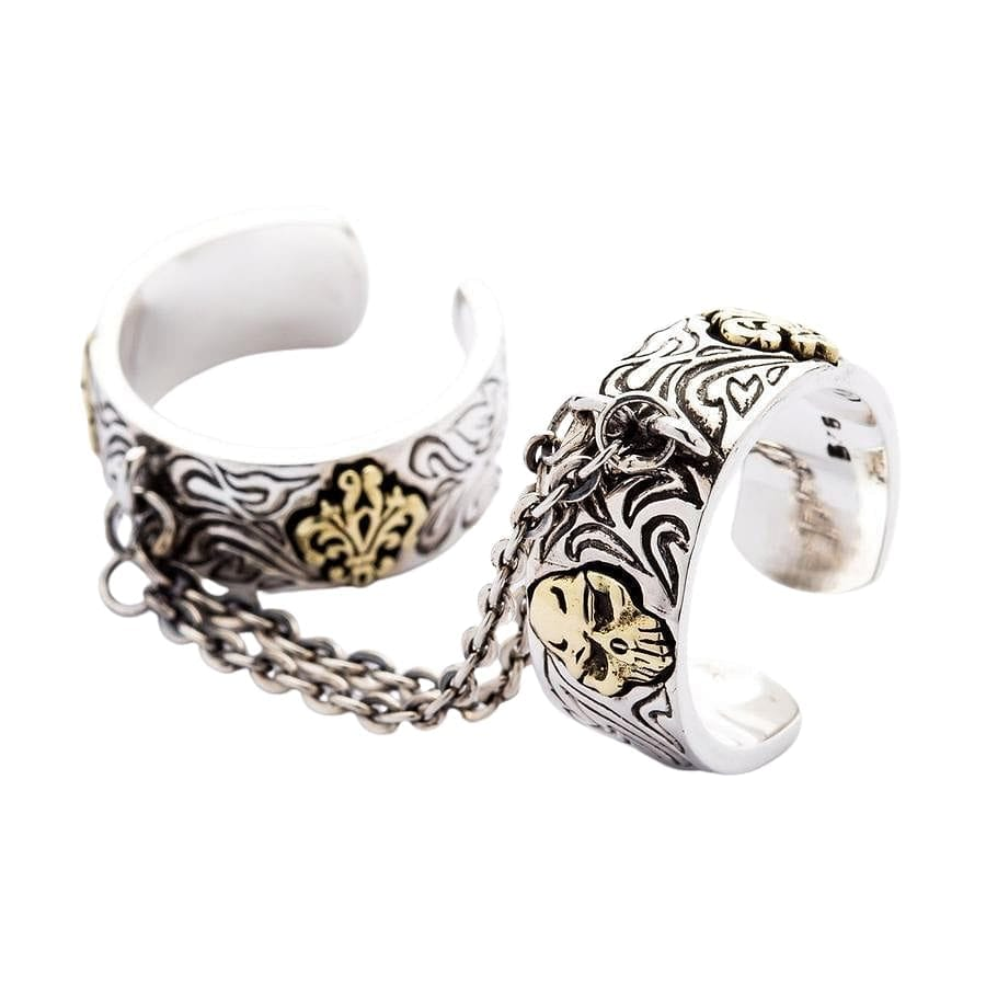 gothic chain rings