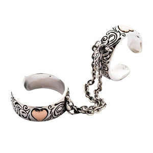 silver gothic punk ring