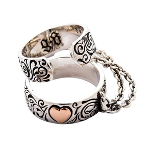 Chained Punk Heart Ring