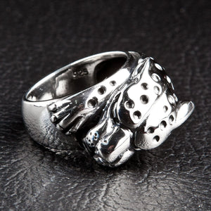 silver tiger band ring