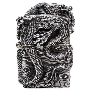 Japanese dragon sterling silver lighter