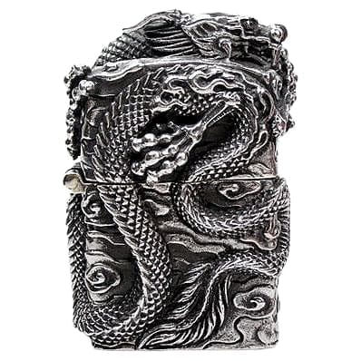 Japansk dragon sterling sølv lighter