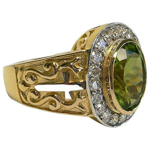 peridot mens ring