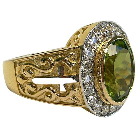 Christian Peridot Ring
