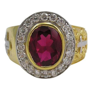 christian ruby bishop ring
