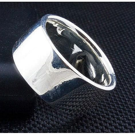 pure 925 silver band ring