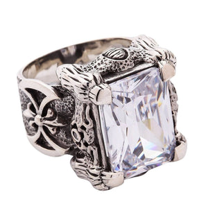 diamond claw biker ring