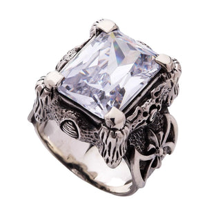 men's white topaz ring