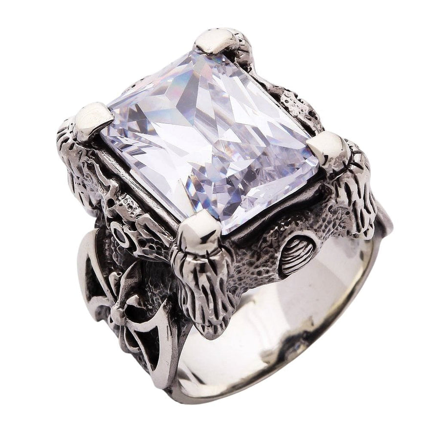 diamond claw men's ring