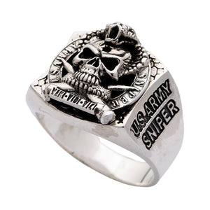 Cobra Skull US Army Sniper Ring