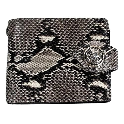 real cobra skin leather wallet