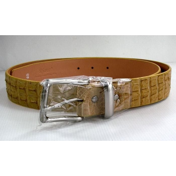 Creamy Crocodile Mens Belts