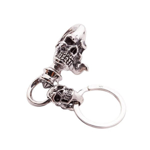 sterling silver keychain skull alahas