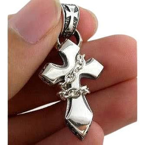 925 silver chained cross pendant