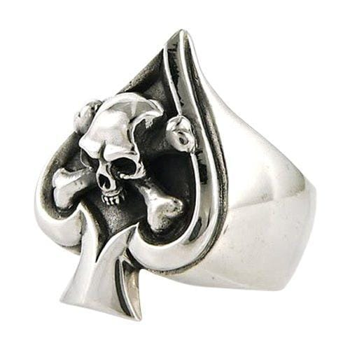 Crossbone skull ring-Bikerringshop