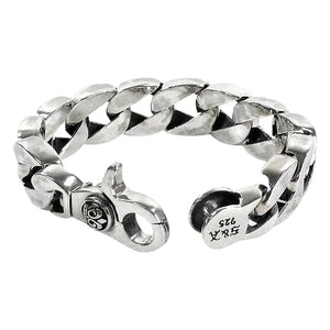 crown sterling silver cuban bracelet