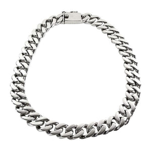 Sterling Silver Mens Cuban Link Chain Necklace