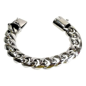 Bracciale in argento sterling a maglie cubane