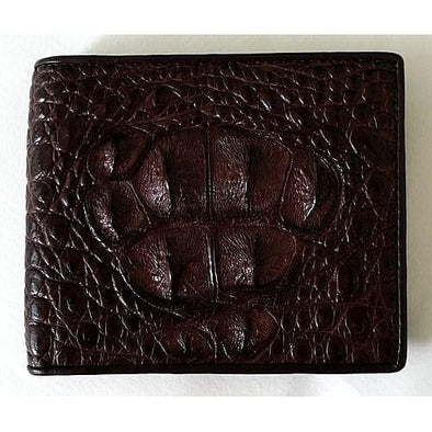 Dark Brown Fresh Water Crocodile Skin Wallet