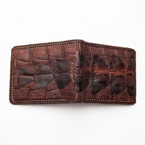 hardcore crocodile tail skin wallet