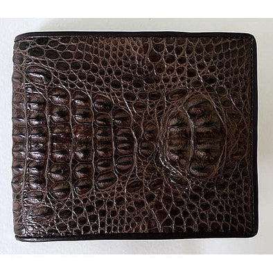 Dark Brown Hornback Crocodile Wallet