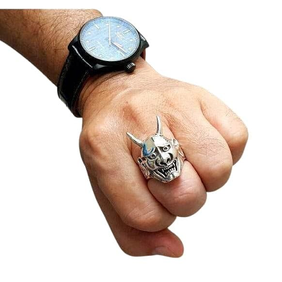 Japanese Oni Mask Ring