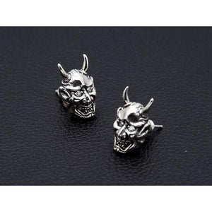 devil 925 sterling silver earrings