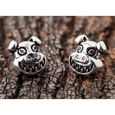 devil pig earrings