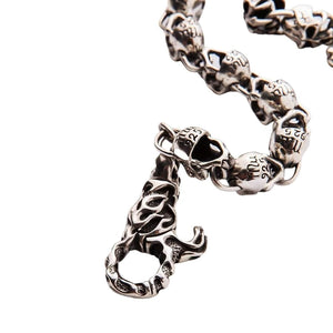Devil Skull Sterling Silver Wallet Chain