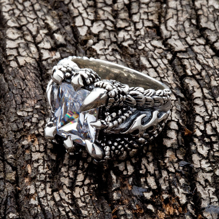 Diamond Clear Gothic Claw Ring
