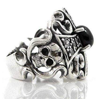 devil sterling silver goth ring