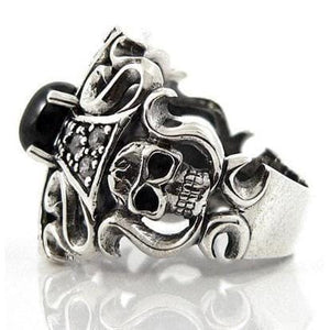 silver goth jewelry for men