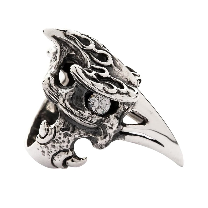 hornbill animal head ring