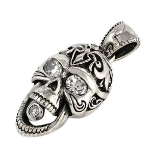 Loket Skull Diamond Eyes Silver Rider