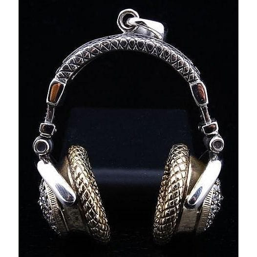 sterling silver headphone pendant